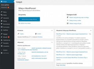 Kokpit systemu WordPress