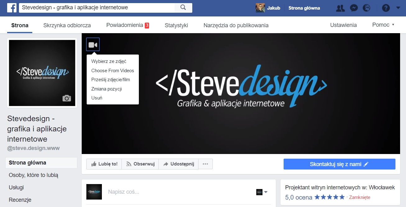 Facebook video cover